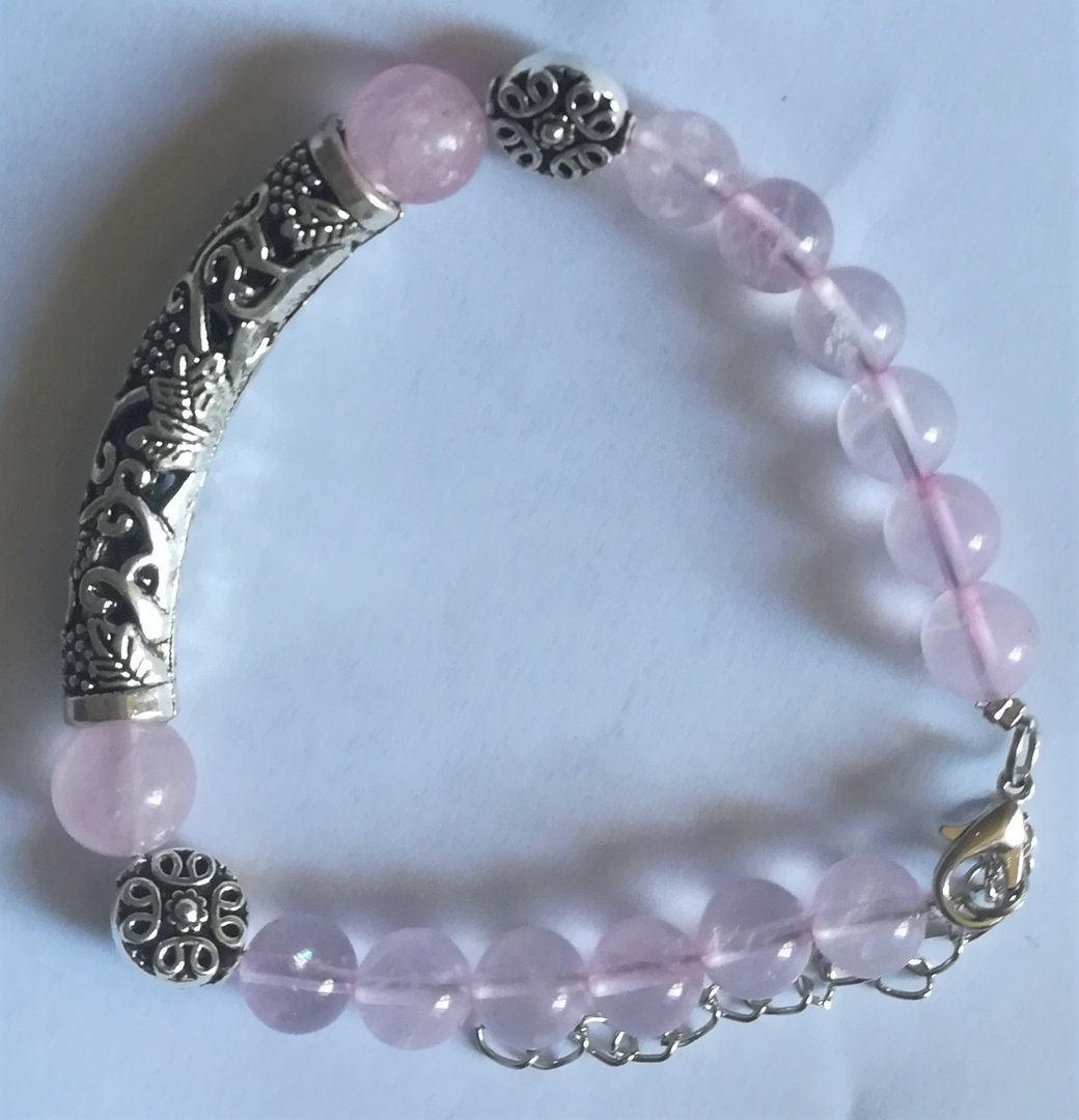 Bracelet antique quartz rose